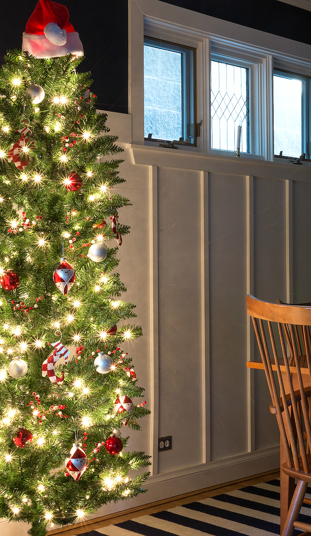 Tall and thin Christmas Tree for small space