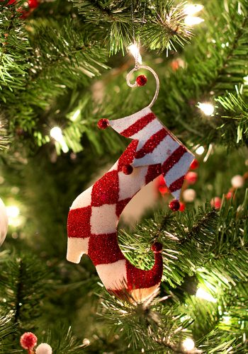 Red White Christmas Ornament