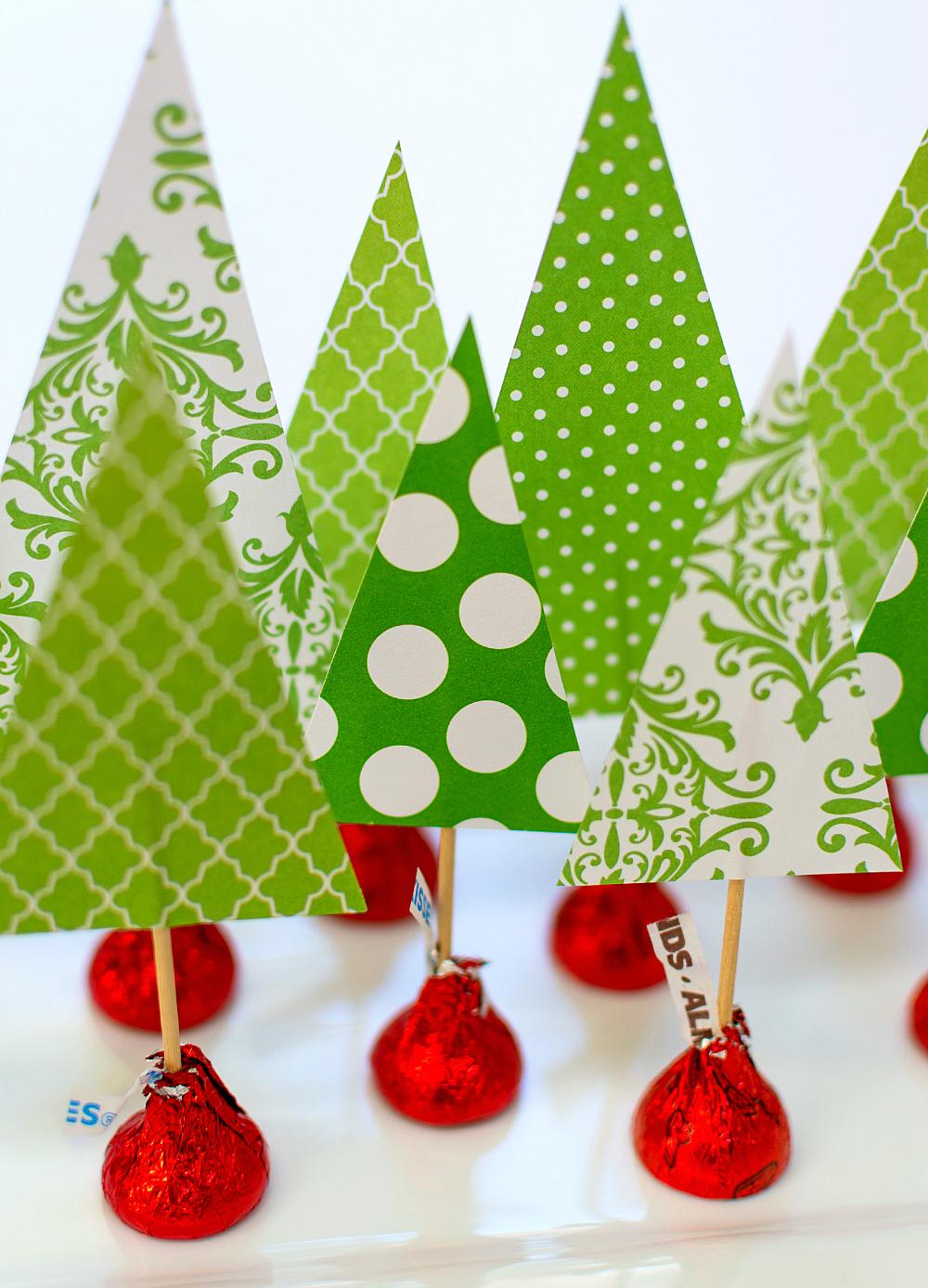 Holiday Centerpiece Idea Hershey Kiss Mas Tree Forest