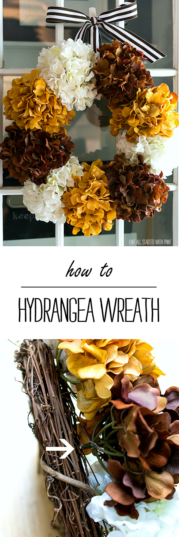 How To Make A Hydrangea Wreath for Fall