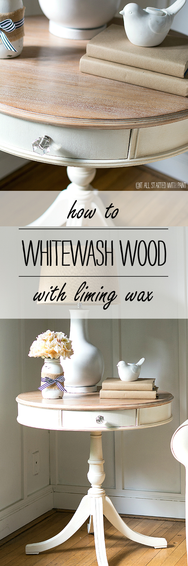 How To Whitewash Wood Using Liming Wax