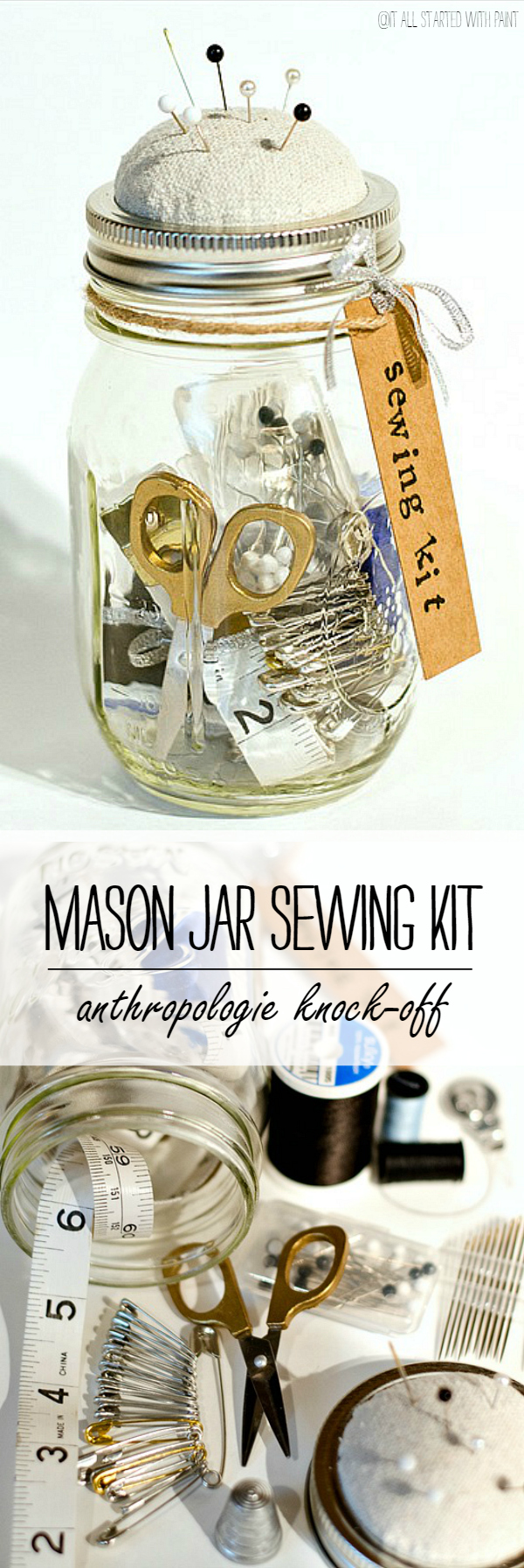 Mason Jar Craft: Anthropologie Sewing Kit