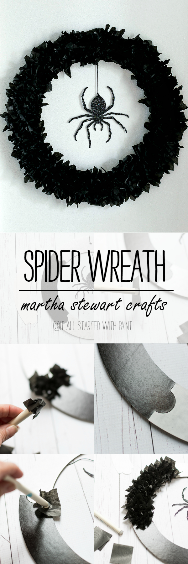 Halloween Crafts: Halloween Wreath Idea Using Tissue Paper