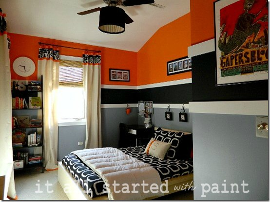 Orange Gray Black Boy Room