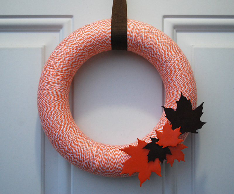 Fall Wreath With Painted Leaves