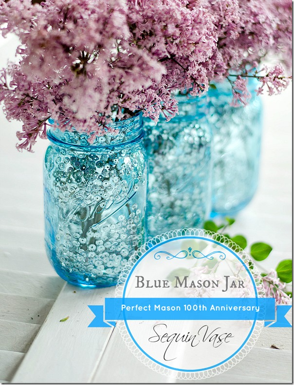 Mason Jar Craft with Blue Mason Jars
