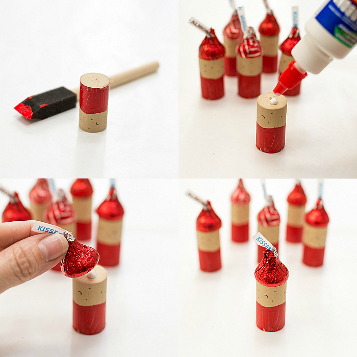 Christmas Craft Ideas Using Wine Corks Hershey Kisses