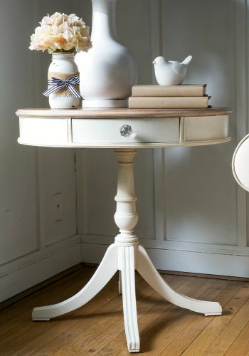 Drum Table Painted White