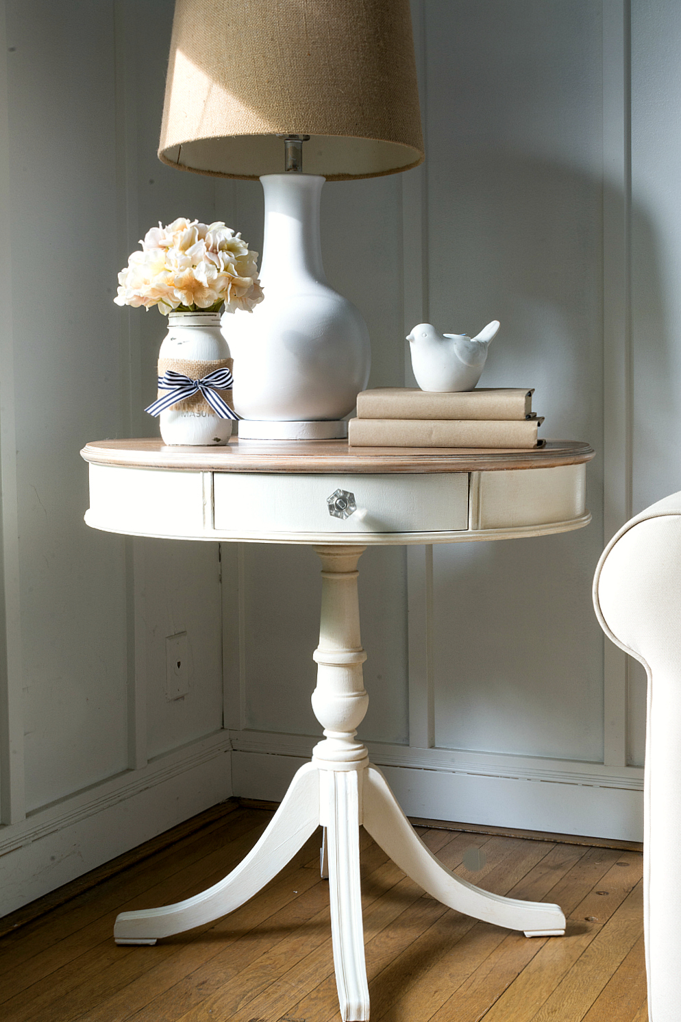 drum-table-painted-white-whitewashed-top-how-to (15 of 29) 2