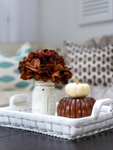 Blue and Brown Fall Decor