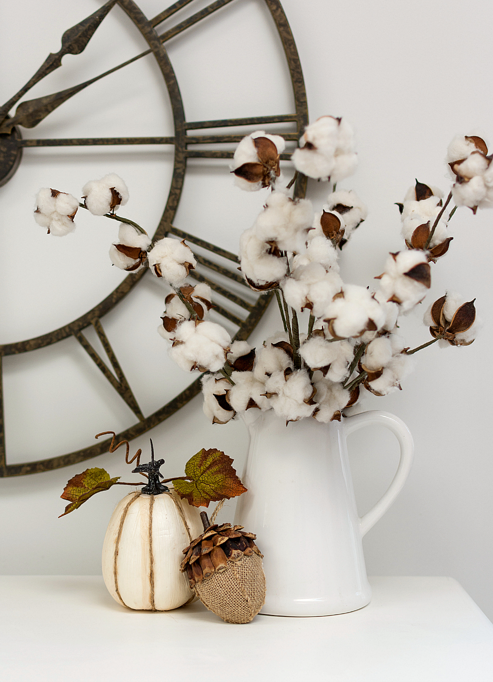 Cotton Stems in Vase