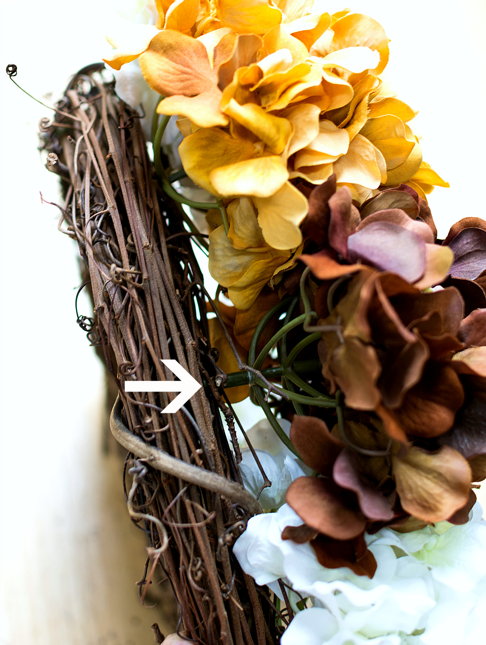How to Make Hydrangea Wreath for Fall