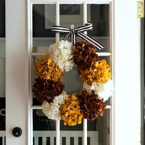 Hydrangea Wreath for Fall