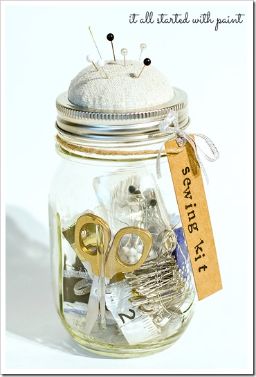 Mason Jar Craft Idea: Anthropologie Sewing Kit
