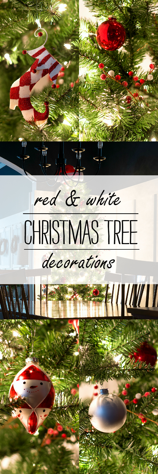 Christmas Tree Decorating Ideas Red and White