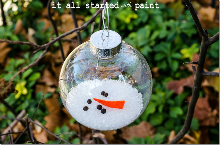 Christmas Craft Ideas: Melted Snowman Ornament