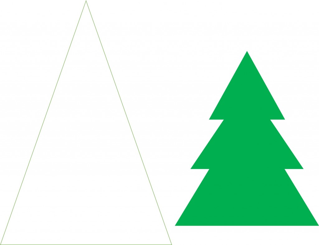 Christmas Tree Template free printable