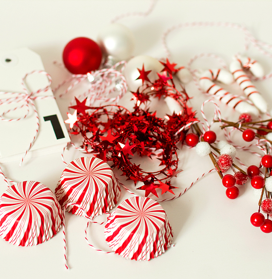Christmas Craft Idea: Red and White Advent Calendar