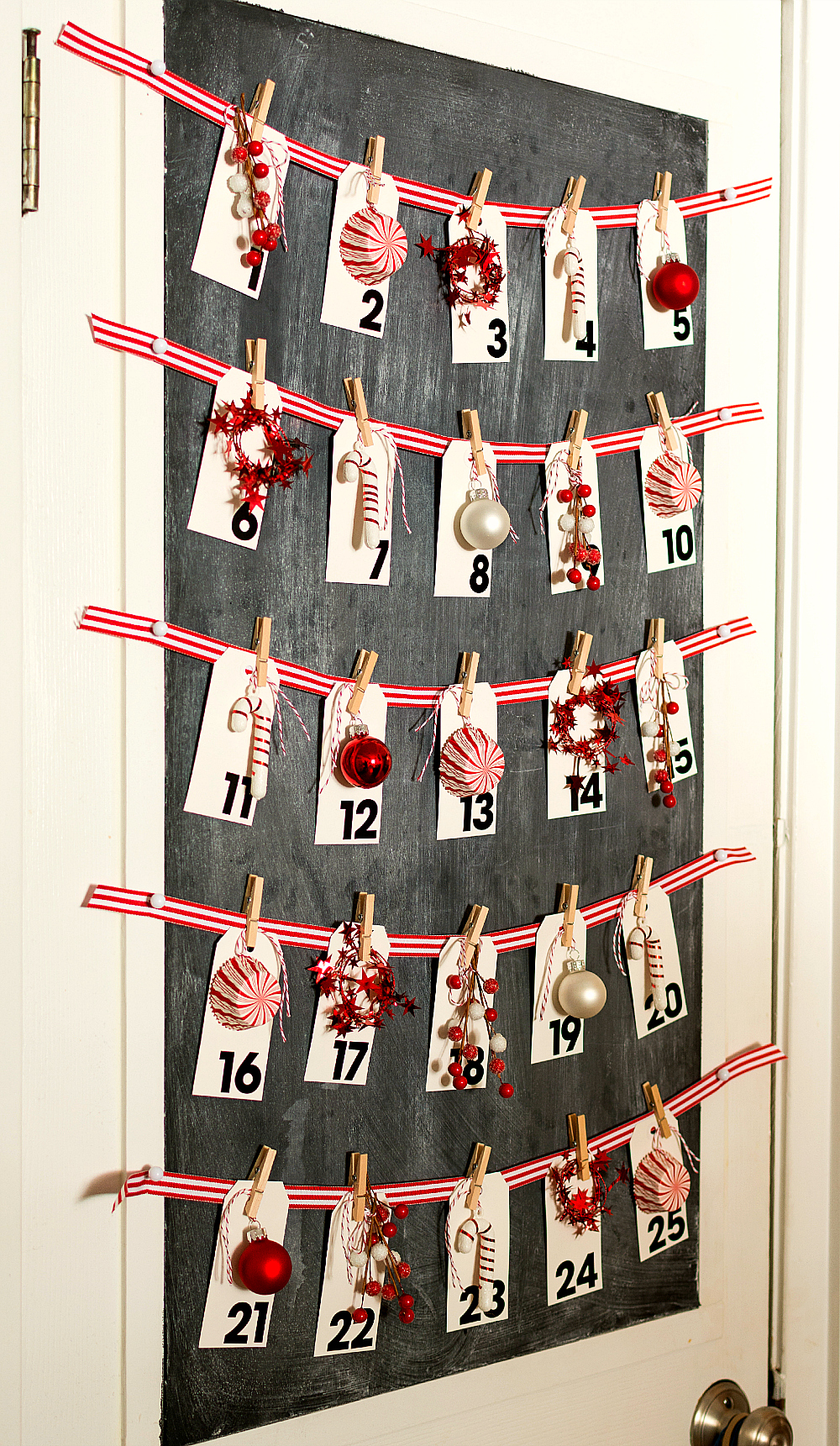 Calendar Craft Projects : Christmas advent calendar