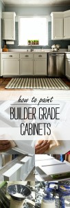 Paint Builder Grade Cabinets: How To Compete Tutorial from Prep and Priming to Spray Painting