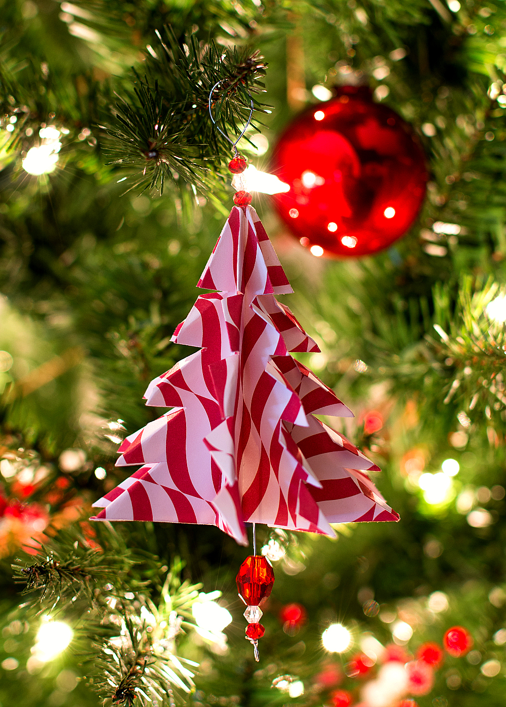 christmas craft ideas handmade ornament with paper origami tree - Handmade Paper Christmas Decorations