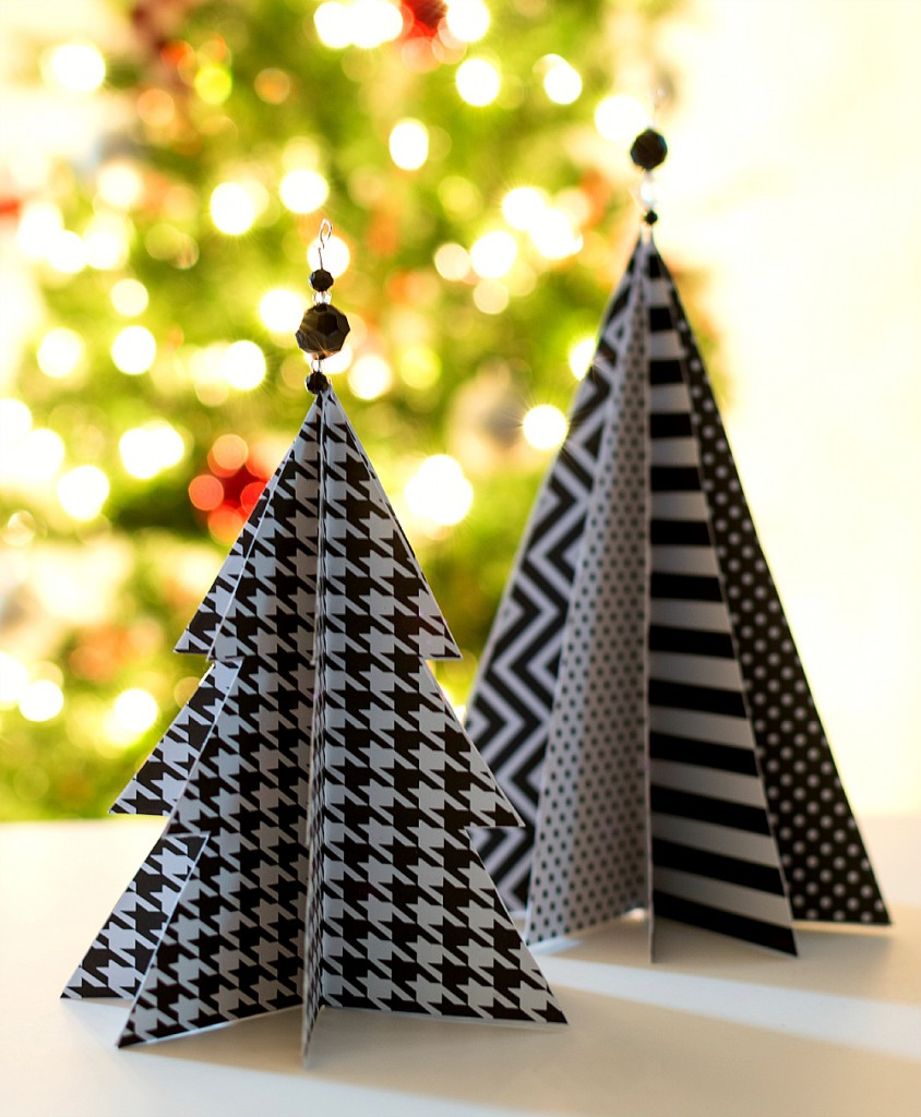 Christmas Tree Made By Paper: Christmas Craft Idea: Paper Trees