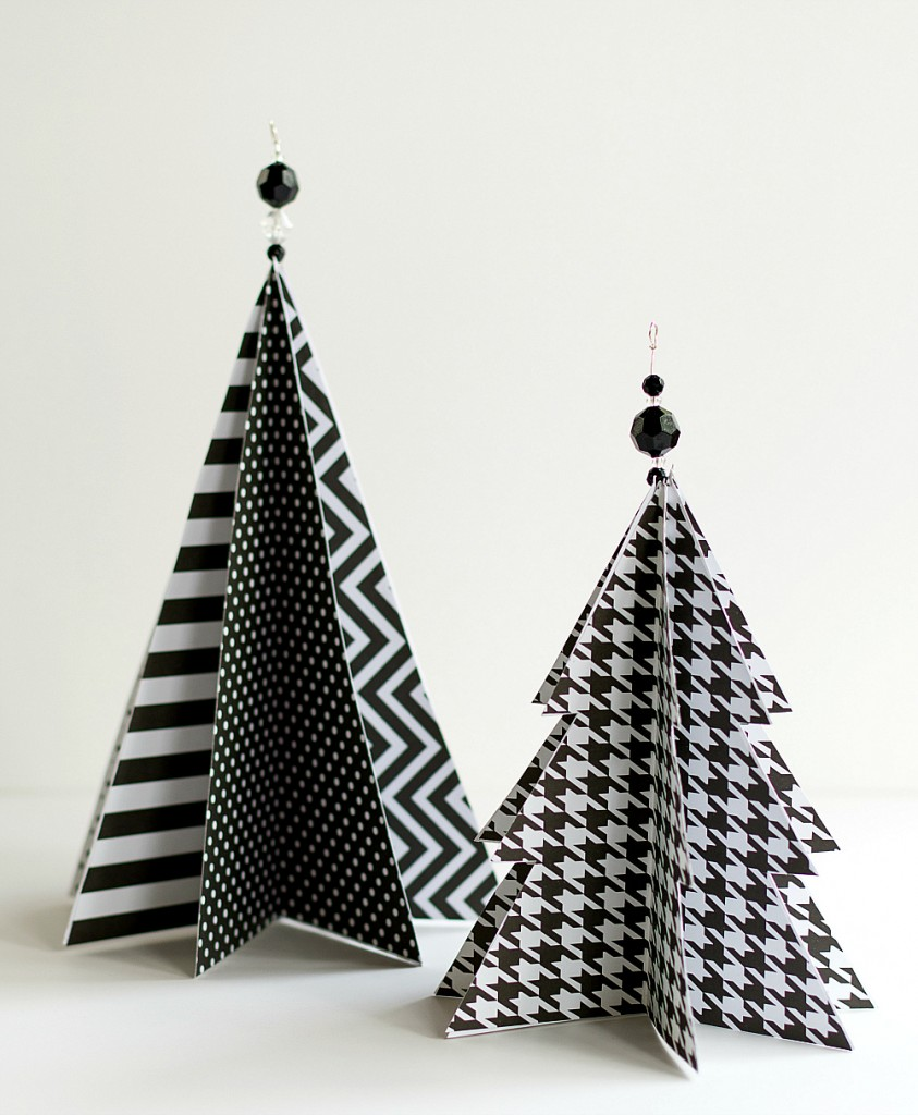 Paper Christmas Tree.Christmas Craft Idea Paper Trees