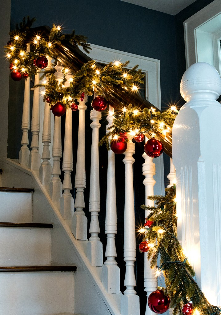 Decorating with Garland and Ornaments