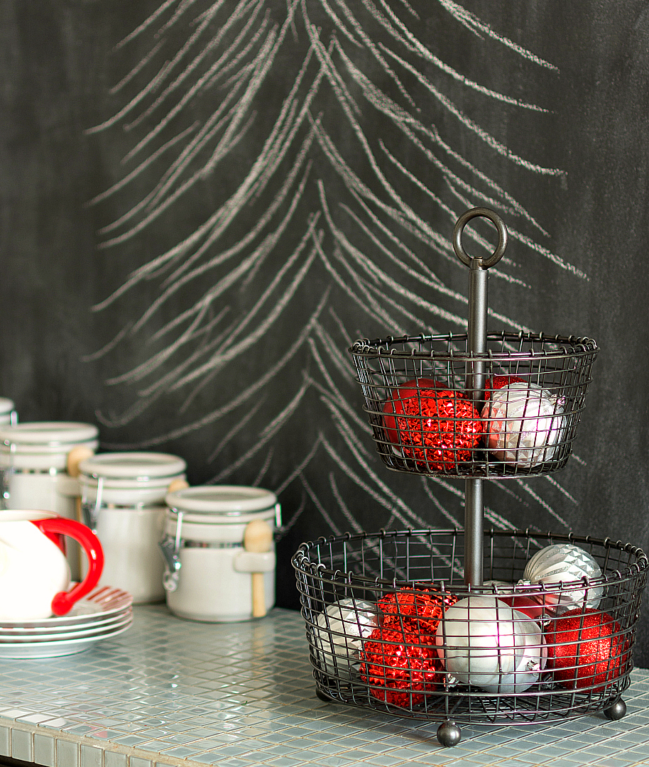 Chalkboard Wall at Christmas