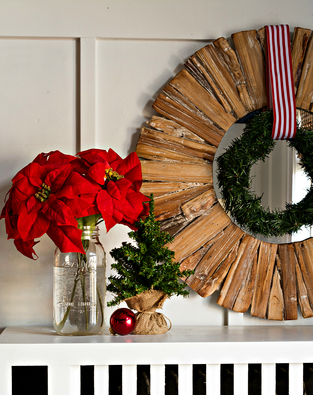 Christmas Mantel Simple Decorating Idea