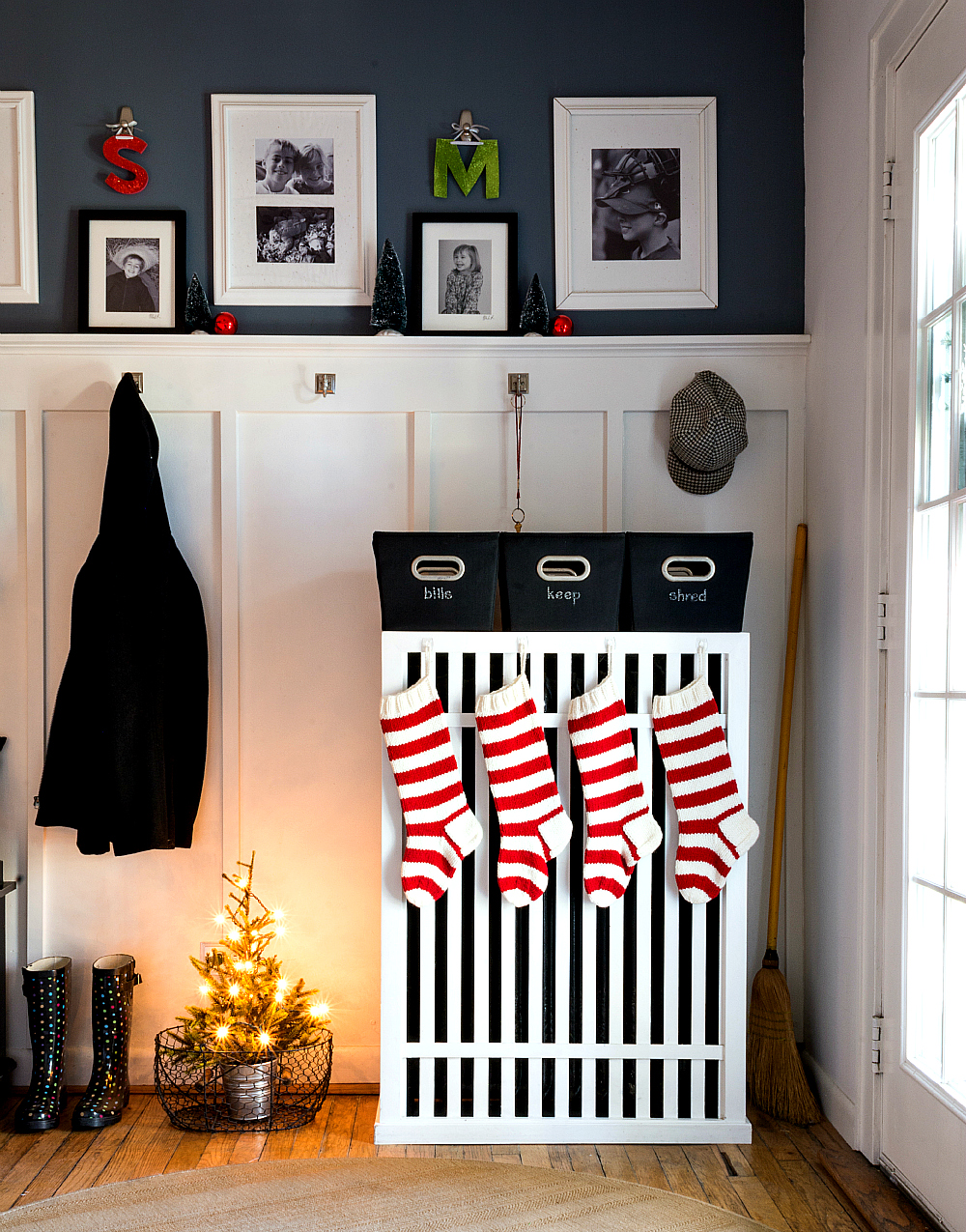 Red and White Christmas Stockings