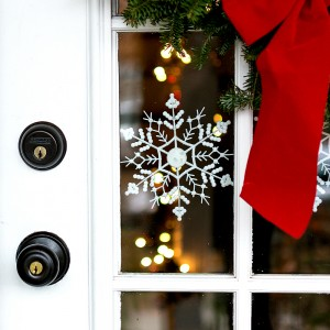 Door Decor for Christmas Door with Snowflakes