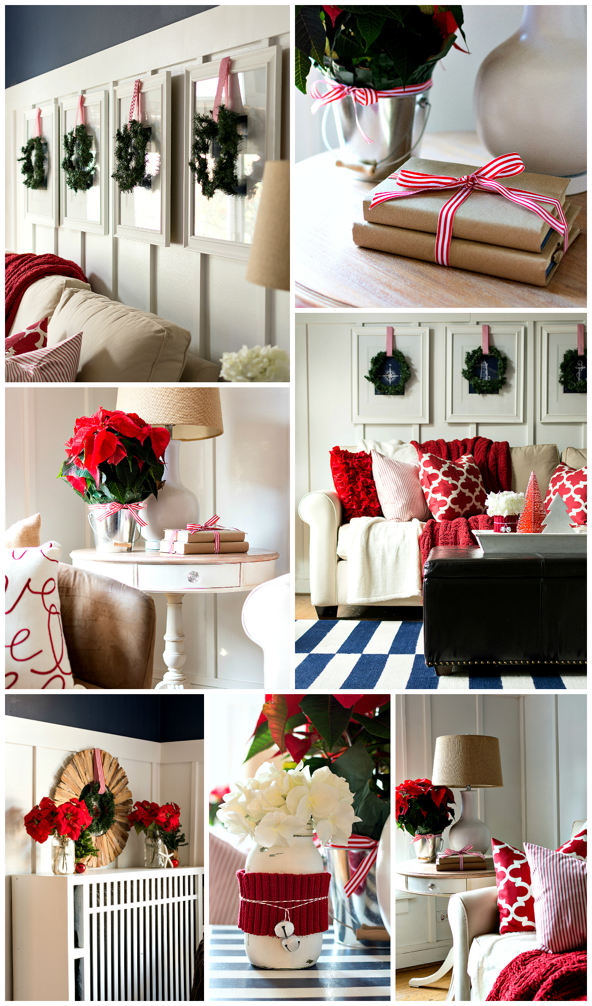 Red White Christmas Decorating Ideas & Christmas Home Tour