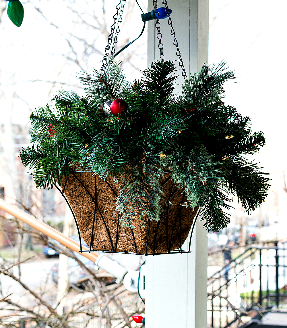 Evergreen Flower Arrangement for Christmas