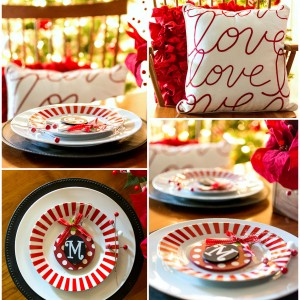 Red & White Christmas in the Dining Room