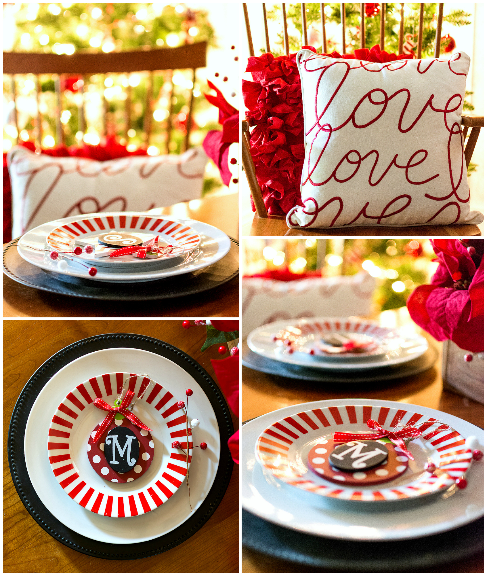 Red And White Christmas Table Setting Ideas | www.galleryhip.com - The Hippes...