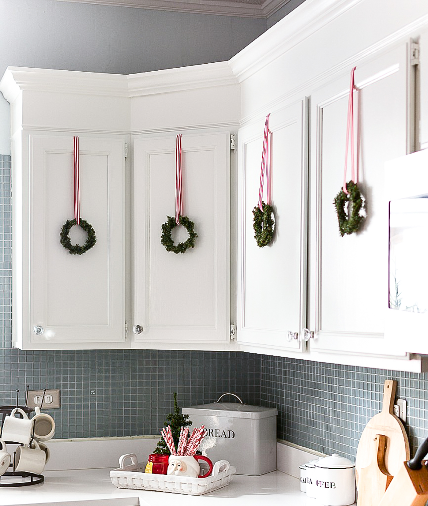 Christmas Decorations For Kitchen Cabinets Christmas in the Kitchen