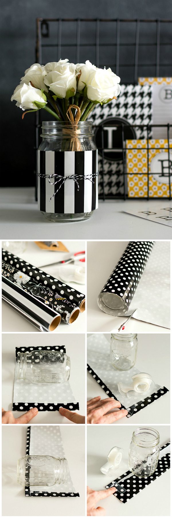 Mason Jar Desk Organizers - Get Organized with Pretty Mason Jars - Easy Mason Jar Craft Idea