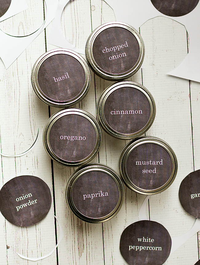 Mason Jar Craft Ideas: Spice Storage Jars