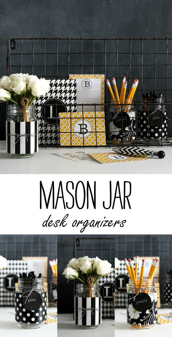 Mason Jar Craft ideas: Desk Storage & Organization Ideas