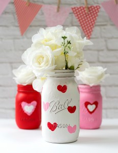 Valentine Kid Craft: Thumbprint Heart Jars
