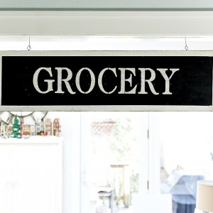 Vintage Look Grocery Sign