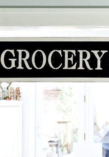 Vintage Look Grocery Sign