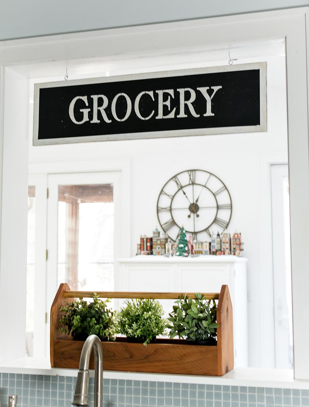 Vintage Grocery Sign