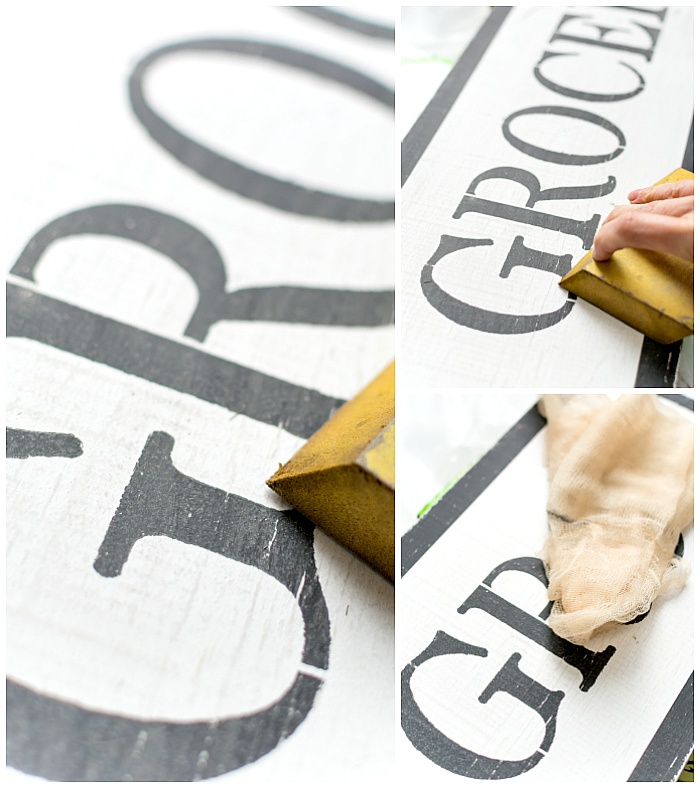 Grocery Sign DIY - How To Make Vintage Look Sign