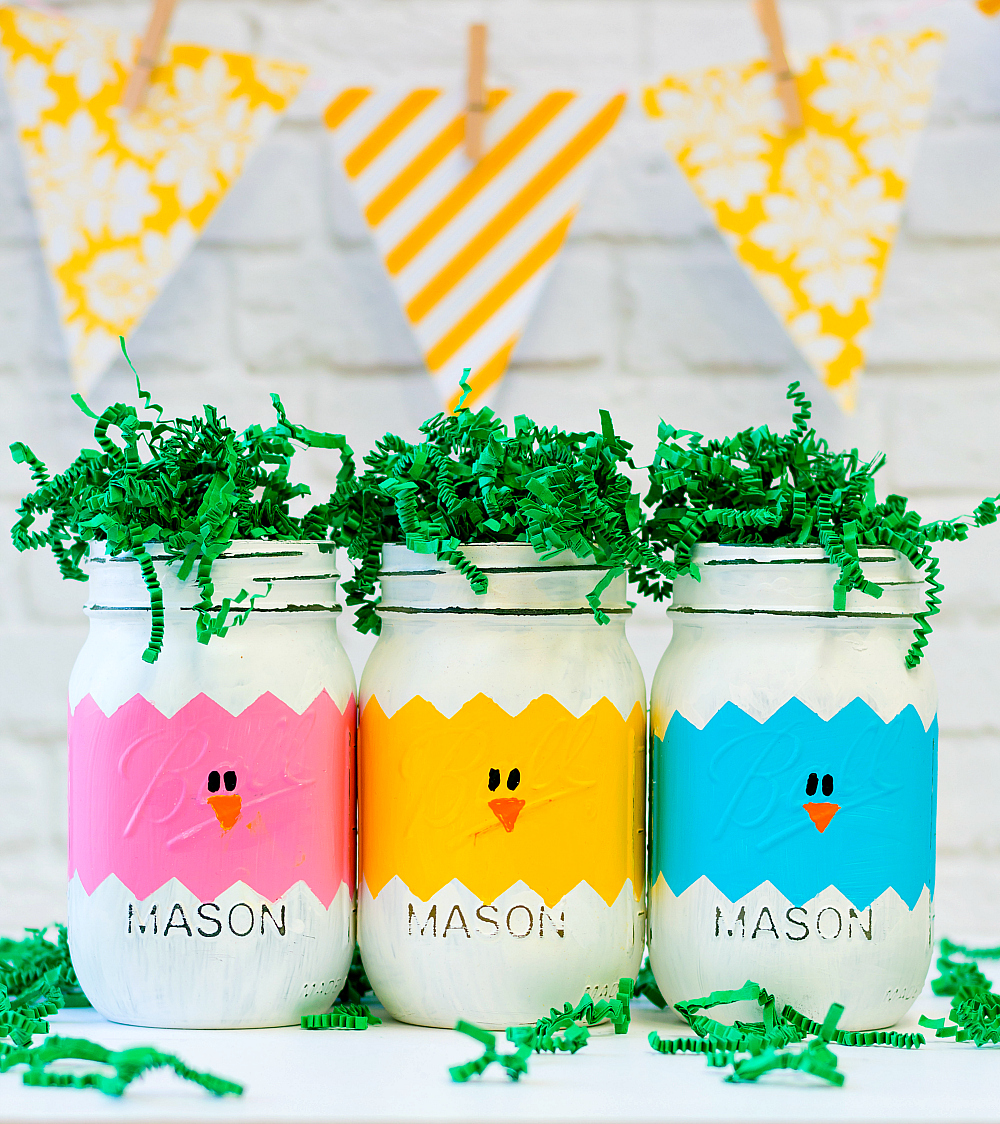Mason Jar Crafts for Easter