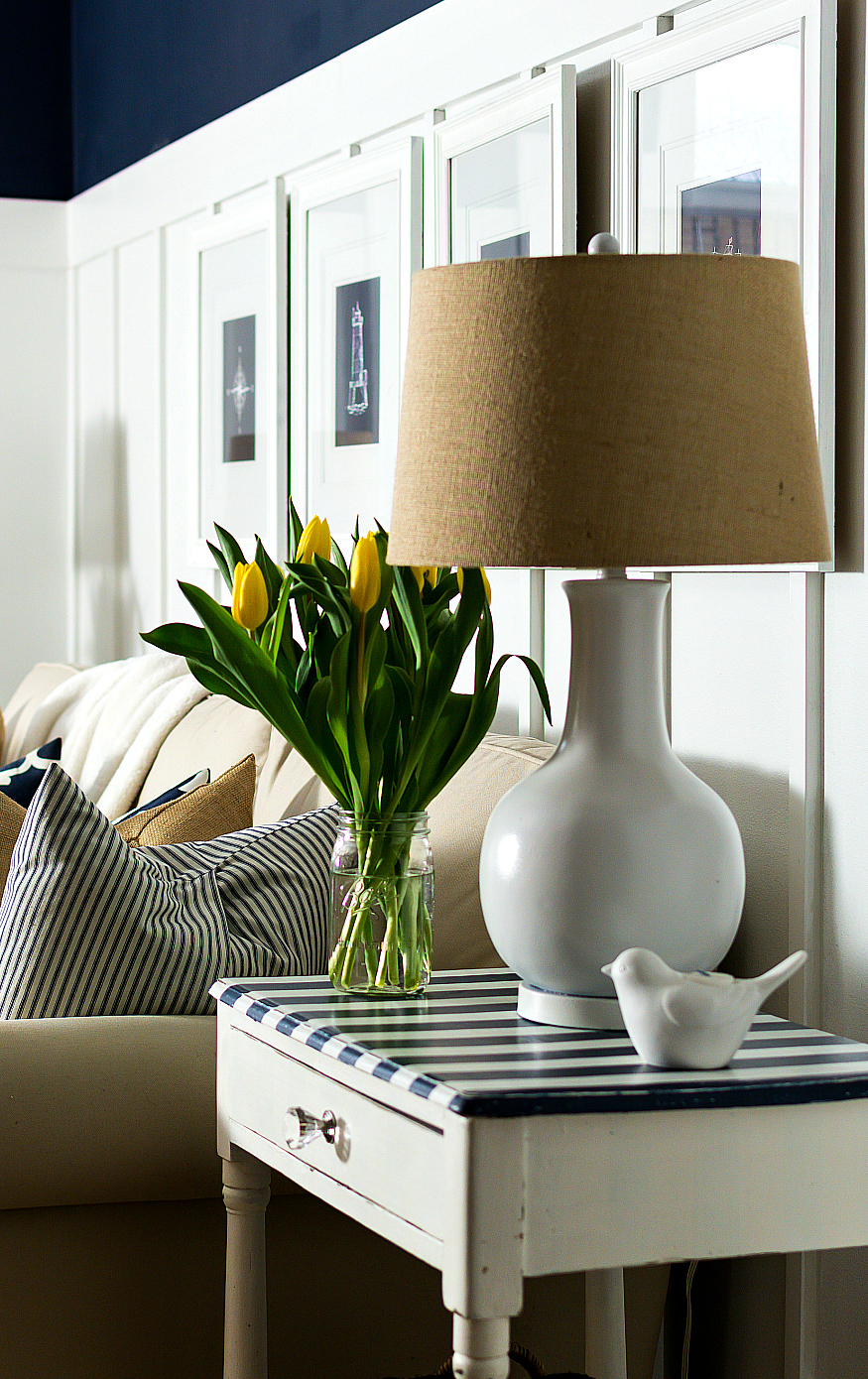 Yellow Navy Spring Decorating