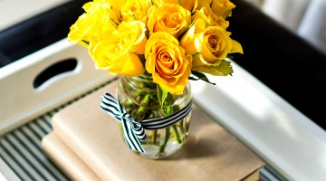 Navy Yellow Spring Decorating Ideas