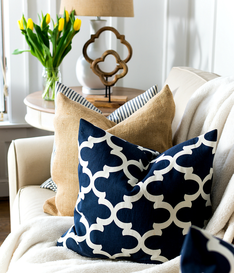 Navy Pillows