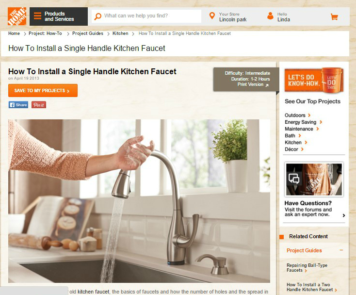 How To Install Kitchen Faucet Video Tutorial